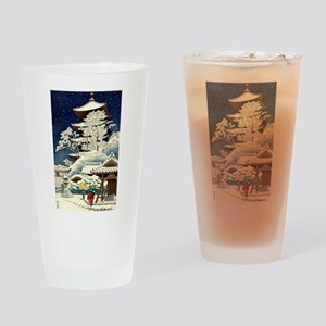 Cool Japanese Oriental Snow Winter Drinking Glass